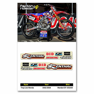 2002-2008 Honda CR 125-250 TLD Swing Arm dirt bike graphics by ENJOY MFG