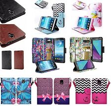 Samsung Galaxy Mega 2 Design Wallet Credit Card Flip Phone Case Cover Accessory