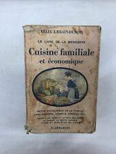 Livre Cuisine familiale et économique de la collection le livre de la ménagère