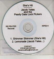 (CJ280) Jacob Yates & The Pearly Gate Lock Pickers / She's Hit, split 2011 DJ CD