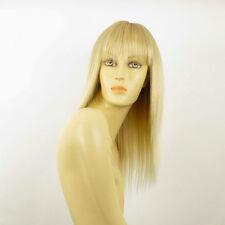 Perruque femme mi-longue blond doré méché blond très clair  ABBY 24BT613
