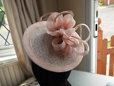 "wedding's  hat Ascot Races Nude  formal Fascinator mother of the bride 7"" Disc*."