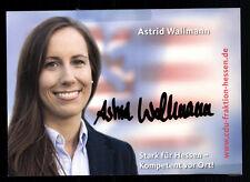 Astrid Wallmann CDU AK Original Signiert + 9152 KR