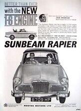 1961 Sunbeam RAPIER Motor Car Jack Brabham ADVERT - Vintage Auto Photo Print AD