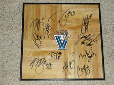2010 Team Signed Villanova Wildcats Framed Basketball Floor PROOF AUTOGRAPHED
