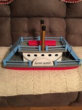 "Vintage 24"" Wooden River Queen Sidewheel Ferry Steam Boat Made In West Germany"