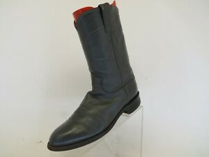 Justin Gray All Leather Roper Cowboy Western Boots Mens Size 6 E