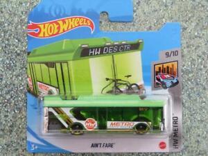 Hot Wheels 2021 #155/250 Ain'T Fare Bus Vert @ H Neuf Fonte 2021