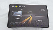 "NEW Rydeen MV432T 4.3"" TFT Screen Rear View Mirror Monitor Multi-mount w/ Temp"