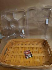 1997 Longaberger Lrg Hostess Serving Tray Basket protector & Divided Protector