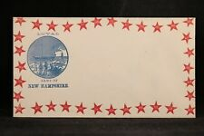Civil War: Unused Magee Patriotic Cover, Loyal Arms of New Hampshire Star Border