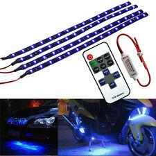4X Wireless Blue LED Strip Kit For Boat Marine Car Interior Lighting 30cm 15LED