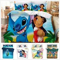 3D Lilo & Stitch Kids Bedding Set Duvet Cover Comforter Cover Pillow Shams 3PCS