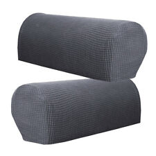 Count 2 Universal Furniture Armrest Covers Sofa Couch Arm Protector Gray