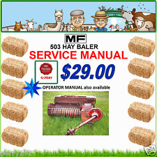 MF 503 SMALL BALER SERVICE MANUAL - $29.00 free delivery