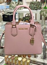 MICHAEL KORS ADELE MESSENGER CROSSBODY LEATHER BAG BLOSSOM BALLET