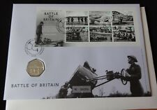 2015 B/U UK 50p COIN ROYAL MINT + ROYAL MAIL PNC 75th ANNI OF BATTLE OF BRITAIN