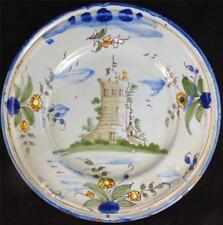 18TH Secolo Antico Italiano maiolica Tin Smalto Piastra Ligure