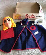 Vintage Pressman Barbie Nurse Kit Halloween Costume Mask Small Size 4-6