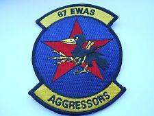 RAF /USAF  aviation squadron cloth patch  87 E.W.A.S. AGGRESSORS