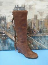 APEPAZZA Arpa Boot Knee High Tall Lace Up Brown Distressed 9 M