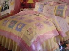 New That'S Mine Window Box Yellow Pink Twin 100% Cotton Quilt Set 6 P Girls