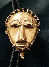 """Mma """"Afrian Gold Head Ornament"""" Pin/Pendant/Bolo ~ 24k gold plate"""
