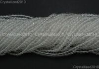 100% Natural Crystal Quartz Rock Gemstone Round Beads 4mm 6mm 8mm 10mm 12mm 15""
