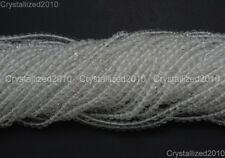 "100% Natural Crystal Quartz Rock Gemstone Round Beads 4mm 6mm 8mm 10mm 12mm 15"""
