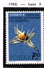 Poland Soviet Spacecraft Luna 9 on Moon stamp 1967 MNH