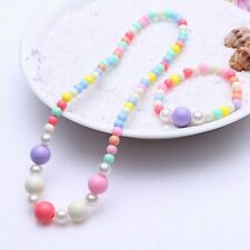 1Set Cute Girl's Lovely Beaded Necklace&Bracelet Kids Jewelry Gift