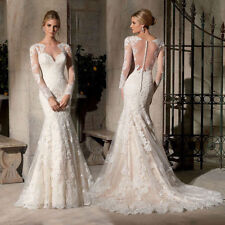 Unbranded Organza Long Sleeve Wedding Dresses