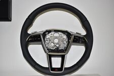 Original Audi S-LINE Sport Steering Perforated With Schaltpaddeln Black A6 A4 A3