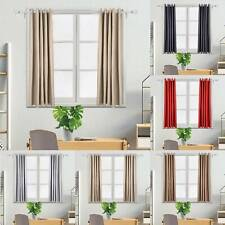 Thick Thermal Blackout Curtains Ready Made Eyelet Ring Top  + Tie Backs