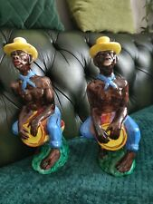 More details for pair of drioli 12 inch south american bongo figurine.