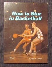 1967 HOW TO STAR IN BASKETBALL by Herman Masin VG 4.0 10th SBS Paperback