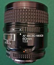 NIKON AF Micro Nikkor 60mm f 2.8 made in Japan