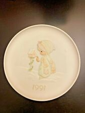 Precious Moments Plate 1991 Blessings From Me To Thee Christmas