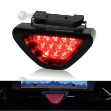 Universal SPORTY F1 Style Triangle 12 LED Rear Stop Tail 3rd Brake Light - RED