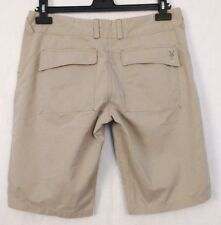 "Ibex Womens Size 8 Khaki Hiking Walking Shorts 12"" Inseam Hemp Organic Cotton"