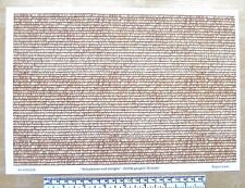 """OO/HO gauge (1:76 scale) """"Yellow/brown roof shingles"""" - paper - A4 sheet"""