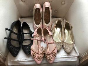 NEXT Girls Lilac Ballet-Style Shoes BNWT Diamante Strap
