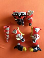 POWER RANGERS RED DINOSAUR T-REX MEGAZORD BODY LEGS TAIL BANDAI BROKEN PARTS LOT