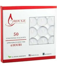 Rouge Candle 50 Unscented Tea Lights