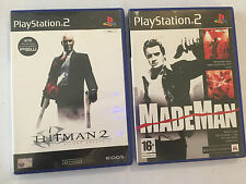 2 IN SCATOLA ORIGINALE SONY PLAYSTATION 2 GIOCHI PS2 MADE MAN + HITMAN 2 SILENT ASSASSIN