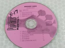 Pop Hits Monthly Karaoke Disc 0208-R August 2002 Rock Cd+G Cdg Nc