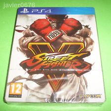 STREET FIGHTER V NUEVO Y PRECINTADO PAL ESPAÑA PLAYSTATION 4 PS4 STEELBOOK