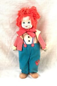 Vintage Bisque Circus Clown Boy Doll - 13 Inches - Music Box - Lullaby