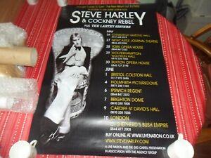 STEVE HARLEY COCKNEY REBEL 2010 PROMO TOUR POSTER
