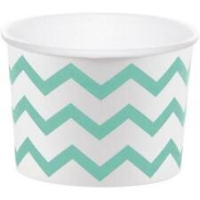 Chevron Stripe Treat Cups Fresh Mint Green 6 Pack Green Decorations & Supplies